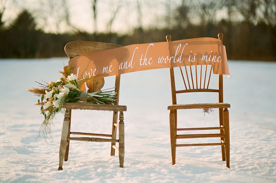 Maine Winter Wedding White Loft Studio