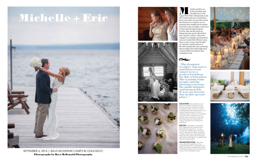 Maine Magazine Weddings 2015 | Photo: Brea McDonald Photography | See more at www.localhost/beautifuldays