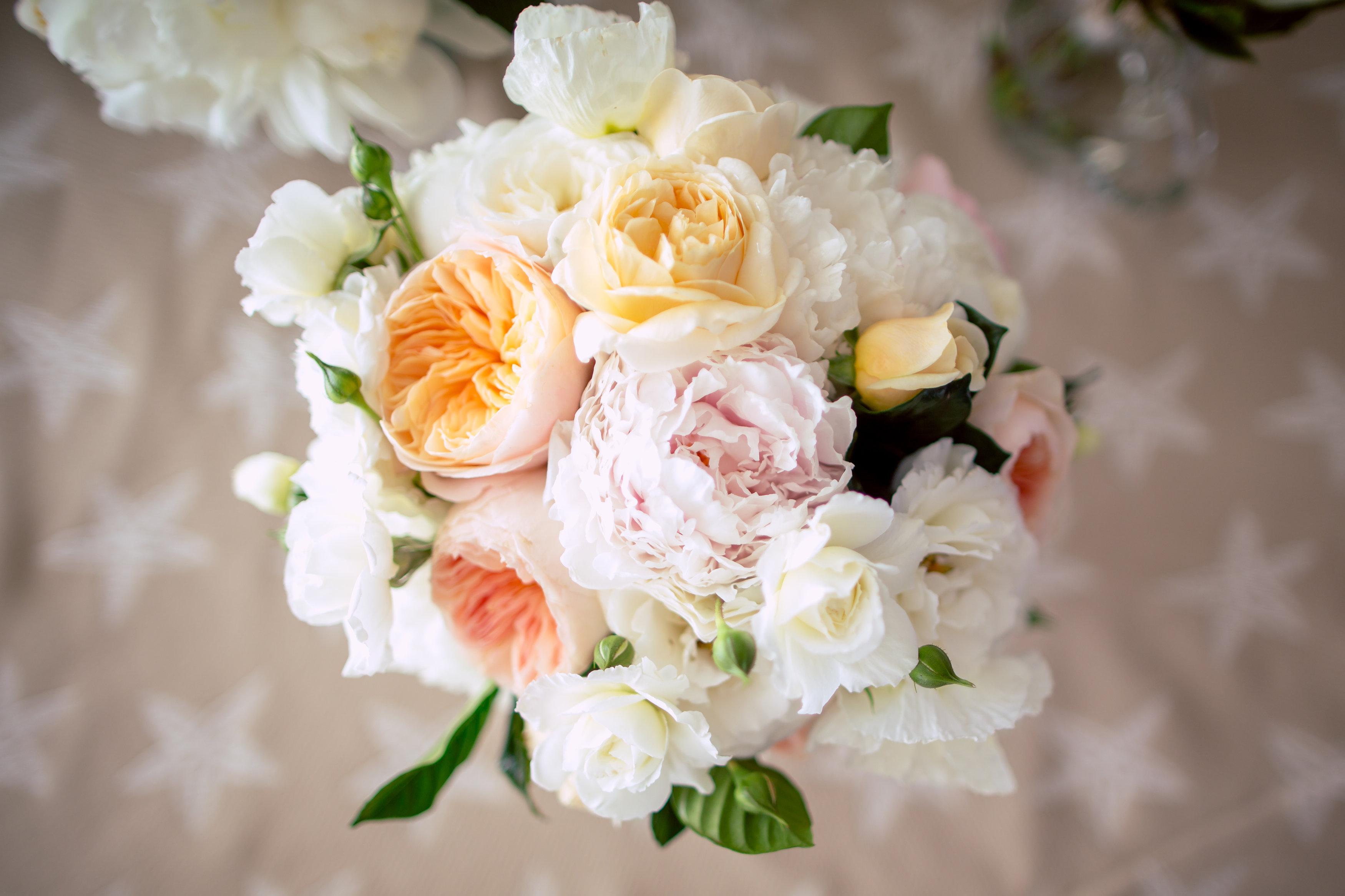Maine wedding florist peony roses