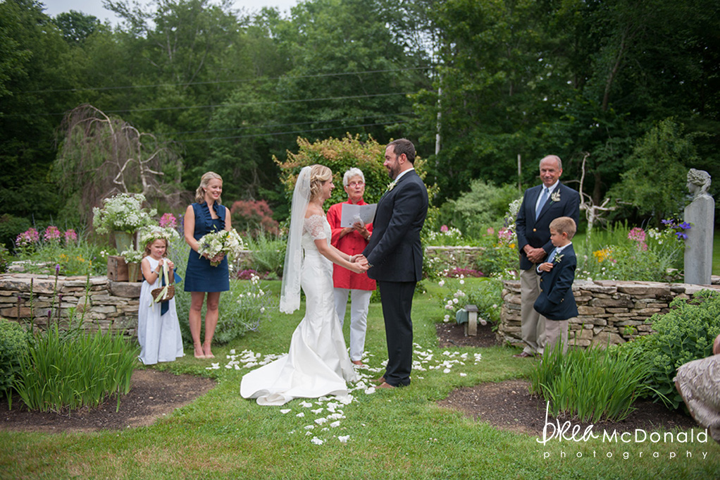 Clarks Cove Maine Wedding Ceremony