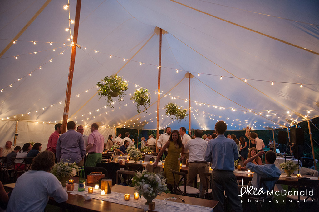 Clarks Cove Maine Wedding lighting