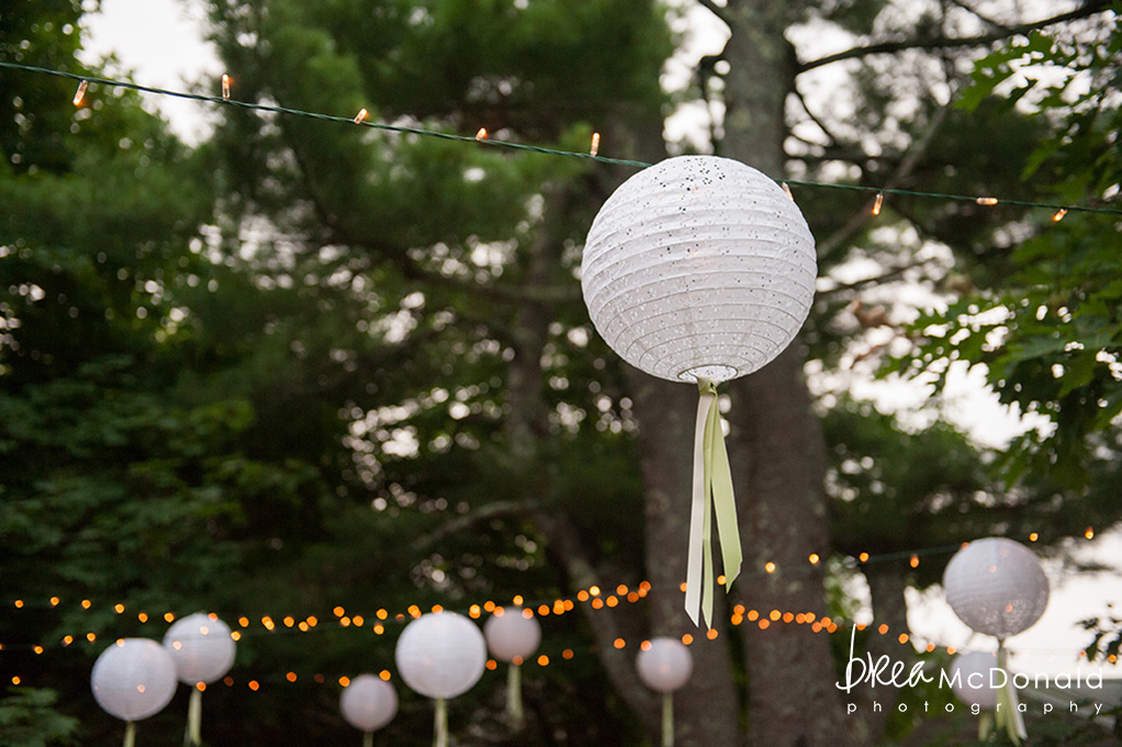 Clarks Cove Maine wedding lighting 2