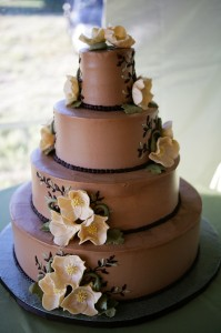 Decadent and elegant cake from Beach Pea Bakery in Kittery.