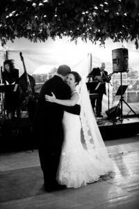 First dance..Stef's dress and veil were stunning!