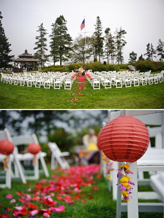 Newagen Seaside Inn Wedding Ceremony Flowers