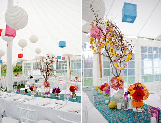 Indian inspired Maine wedding flowers