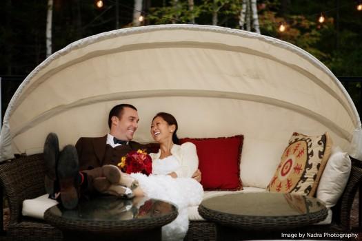 Hidden Pond Maine Wedding  | Photo Credit: Nadra Photography