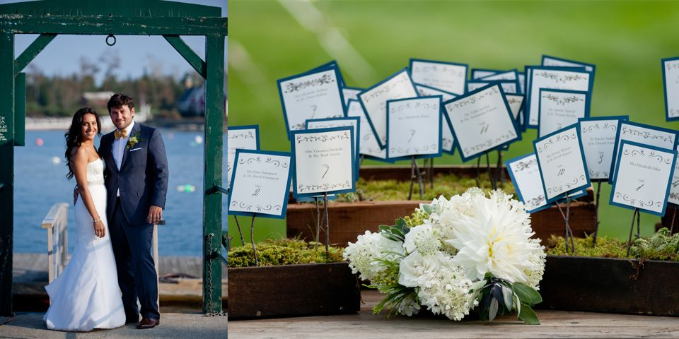 Stylish Seaside Celebration with Rustic Touches on Maine Coast | Photo Credit: emilie Inc| More at www.localhost/beautifuldays