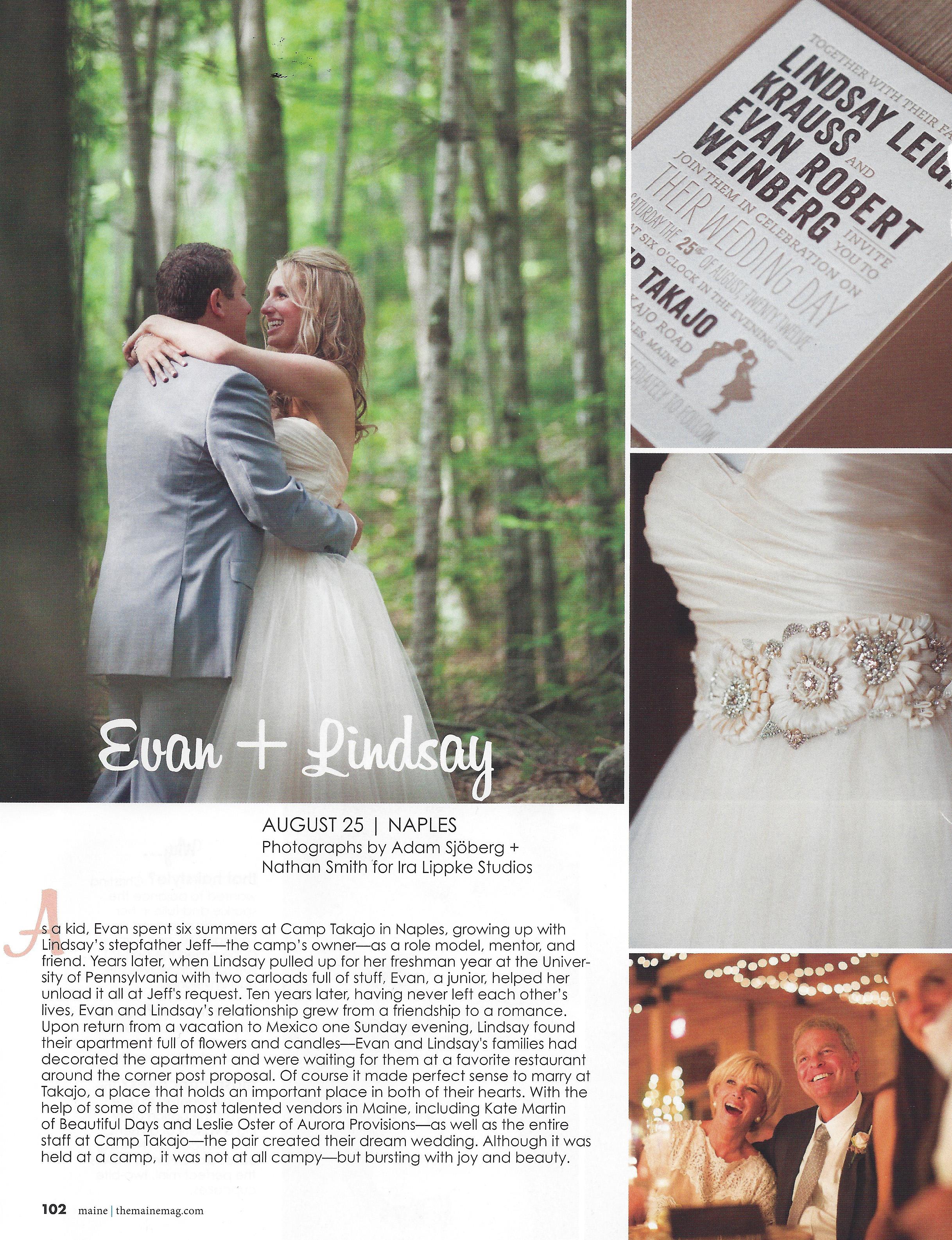 Maine Summer Camp Wedding Maine wedding planner | Photo Credit: Adam Sjoberg for Ira Lippke Studios