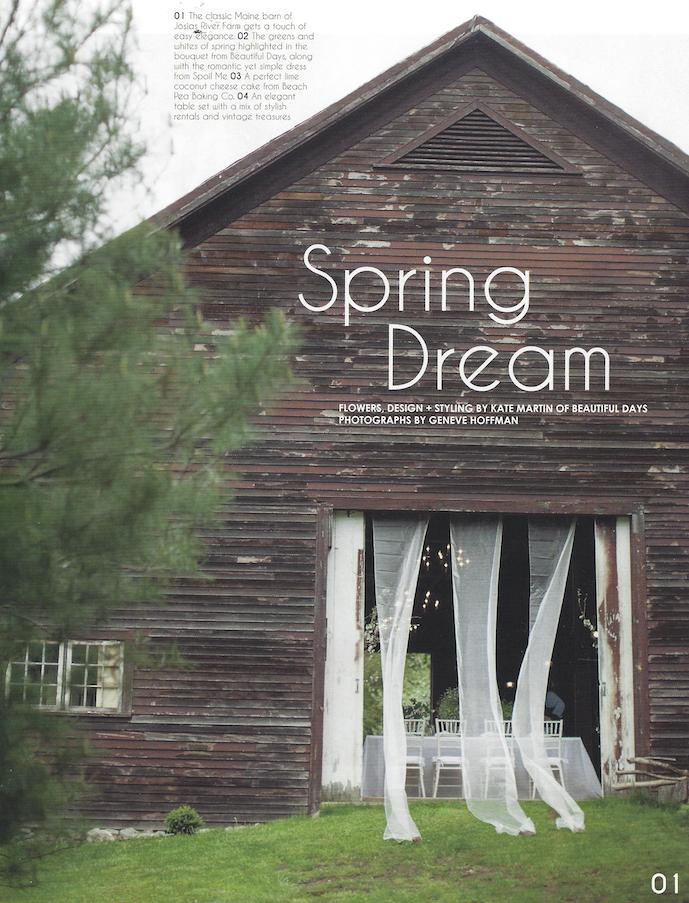 Maine Farm Barn Wedding Inspiration | Photo Credit: Geneve Hoffman Photography