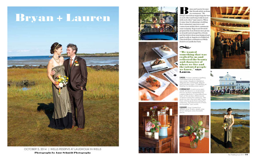 Maine Magazine Weddings 2015 | Photo: Anne Schmidt Photography | See more at www.localhost/beautifuldays