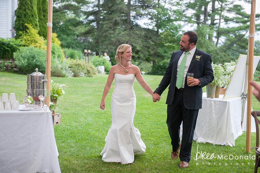 Clarks Cove Maine Wedding Bride + Groom