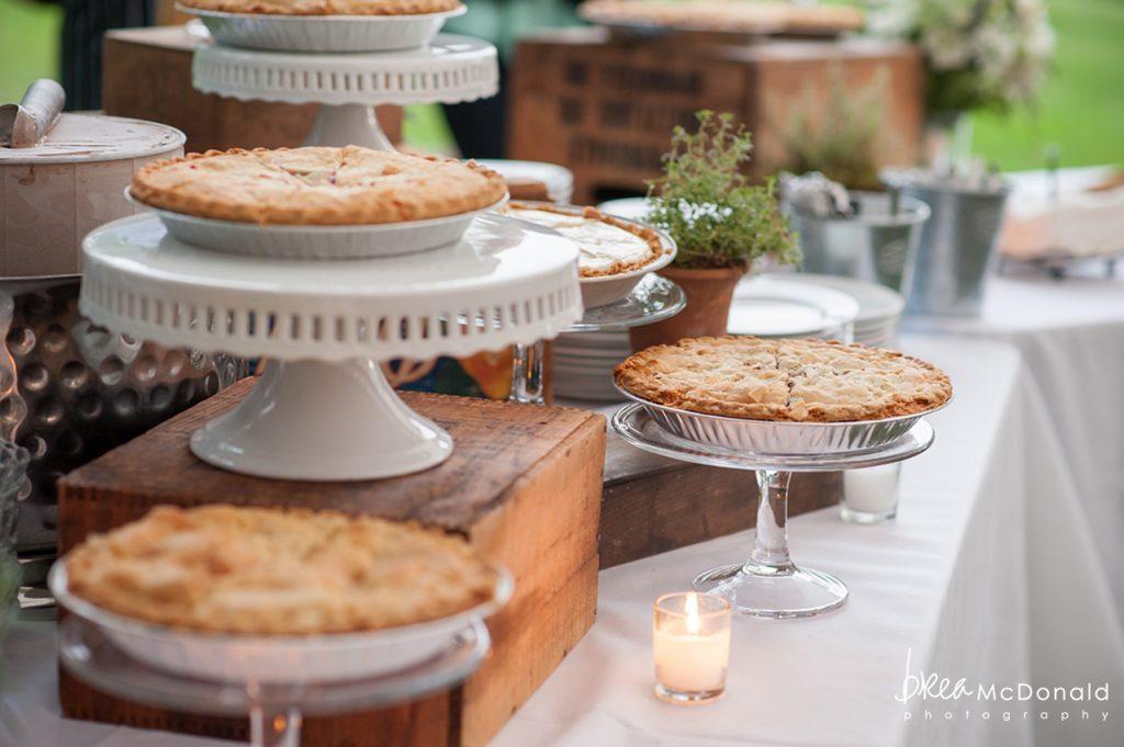 Clarks Cove Maine Wedding pies